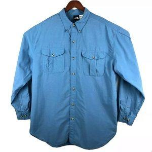 The North Face XL Blue Button Long Sleeve Shirt